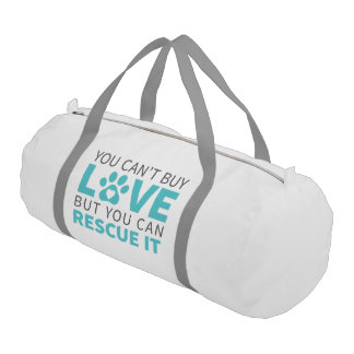 DTDR Can't Buy Love Duffle Bag, white Gym Duffel Bag