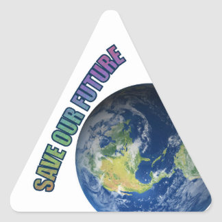 DTH2GOP!  Save Our Future, Save Our Troops Triangle Sticker