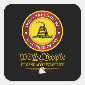 DTOM -Demand Accountability Square Sticker