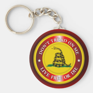 DTOM - Live Free or Die 2 (red) Basic Round Button Key Ring