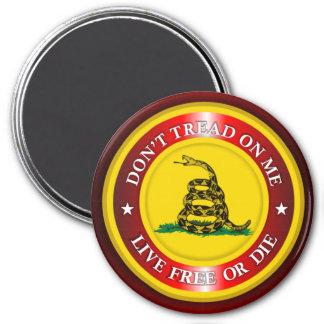 DTOM - Live Free or Die 2 (red) Magnet