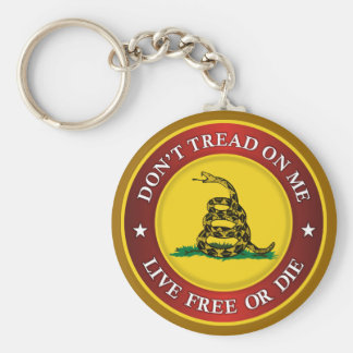 DTOM -Live Free Or Die Basic Round Button Key Ring