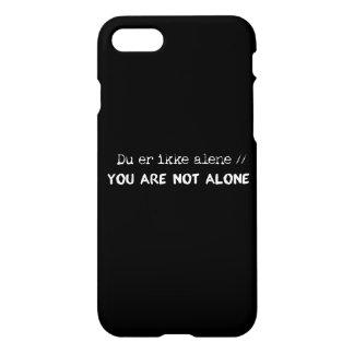 du er ikke alene/you are not alone iPhone 8/7 case