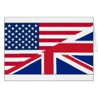 Dual Citizen American British Flag Note Card