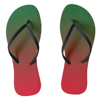 Dual colored(Red&Green) Slim Straps Thongs
