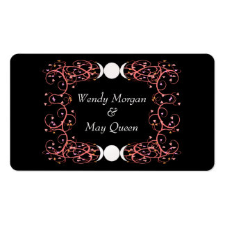 Dual Goddess Lesbian Handfasting Contact Card Double-Sided Standard Business Cards (Pack Of 100)