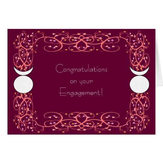 Dual Horned God Gay Wiccan Engagement Congrats Card
