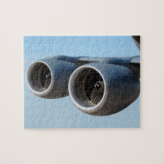 Dual Jet Engines in Blue Sky Jigsaw Puzzle