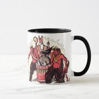 Dual Krampus & St. Nick Coffee Mug