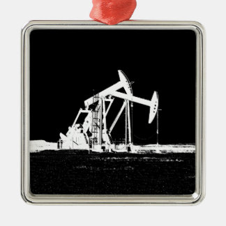 Dual Oil Well Pumping Unit Metal Ornament