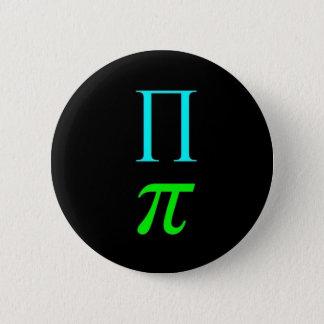 Dual Pi Symbol (Button) 6 Cm Round Badge