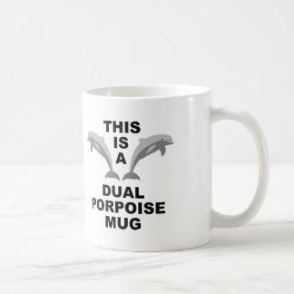Dual Porpoise Funny Mug or Travel Mug