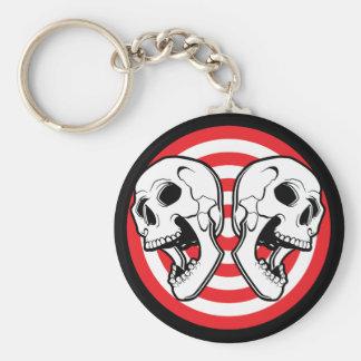 Dual Skull Target Key Chain