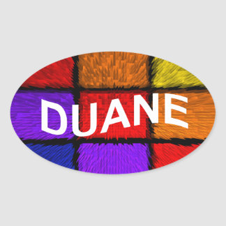 DUANE OVAL STICKER