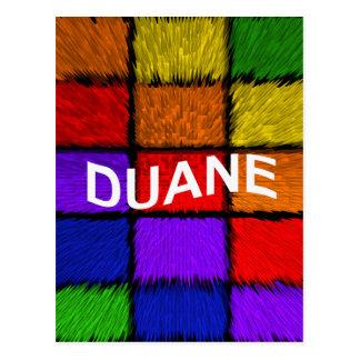 DUANE POSTCARD