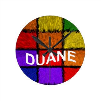 DUANE ROUND CLOCK
