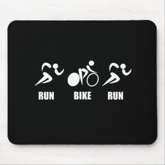 Duathlon Run Bike Run Mouse Pad