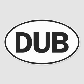 DUB Oval Identity Sign Oval Sticker
