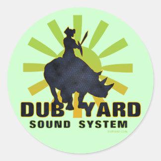 Dub Yard Sound System Classic Round Sticker