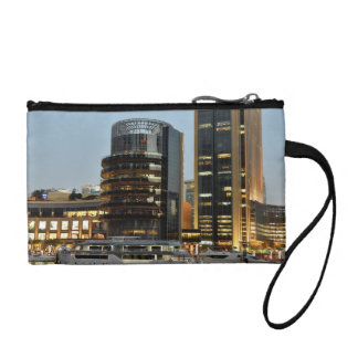 Dubai architecture at night coin wallet