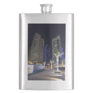 Dubai architecture at night hip flask