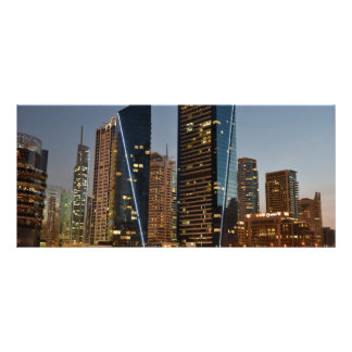 Dubai architecture at night personalized rack card