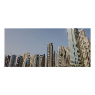 Dubai architecture full colour rack card