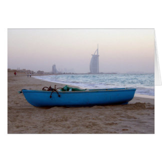 dubai beach boat card
