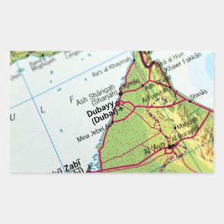 Dubai City Map Rectangular Sticker