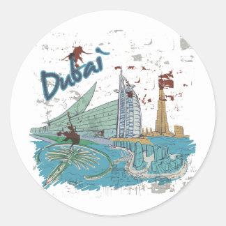 Dubai Classic Round Sticker