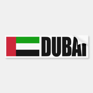 Dubai Flag Bumper Sticker