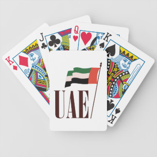 Dubai Flag UAE Bicycle Playing Cards