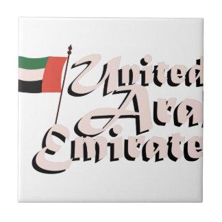 Dubai Flag United Arab Emirates Small Square Tile