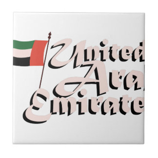 Dubai Flag United Arab Emirates Small Square Tile
