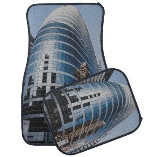 Dubai glass skyscraper floor mat