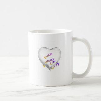 Dubai Heart, world city Coffee Mug