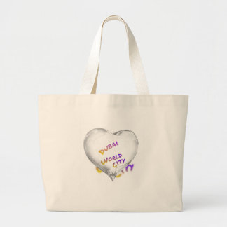 Dubai Heart, world city Large Tote Bag