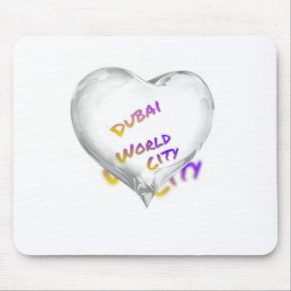 Dubai Heart, world city Mouse Pad