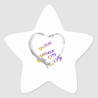 Dubai Heart, world city Star Sticker
