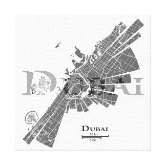 Dubai Map Canvas Stretched Canvas Prints