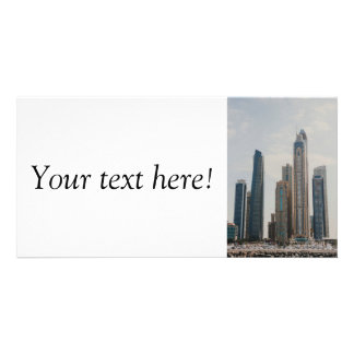 Dubai Marina architecture Personalized Photo Card