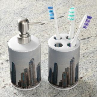 Dubai Marina architecture Soap Dispenser And Toothbrush Holder