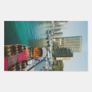 Dubai Marina Pier 7 Rectangular Sticker