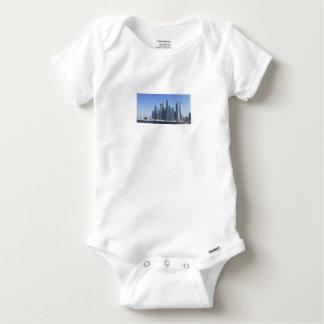 Dubai Sky Line Baby Onesie