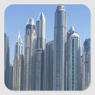 Dubai Sky Line Square Sticker