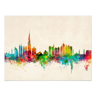 Dubai Skyline Photo Print