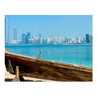 Dubai skyline postcard