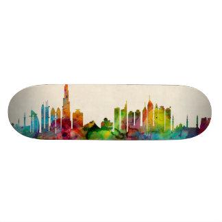 Dubai Skyline Custom Skate Board