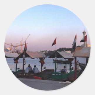 Dubai Spice Souk Classic Round Sticker