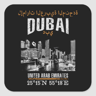 Dubai Square Sticker